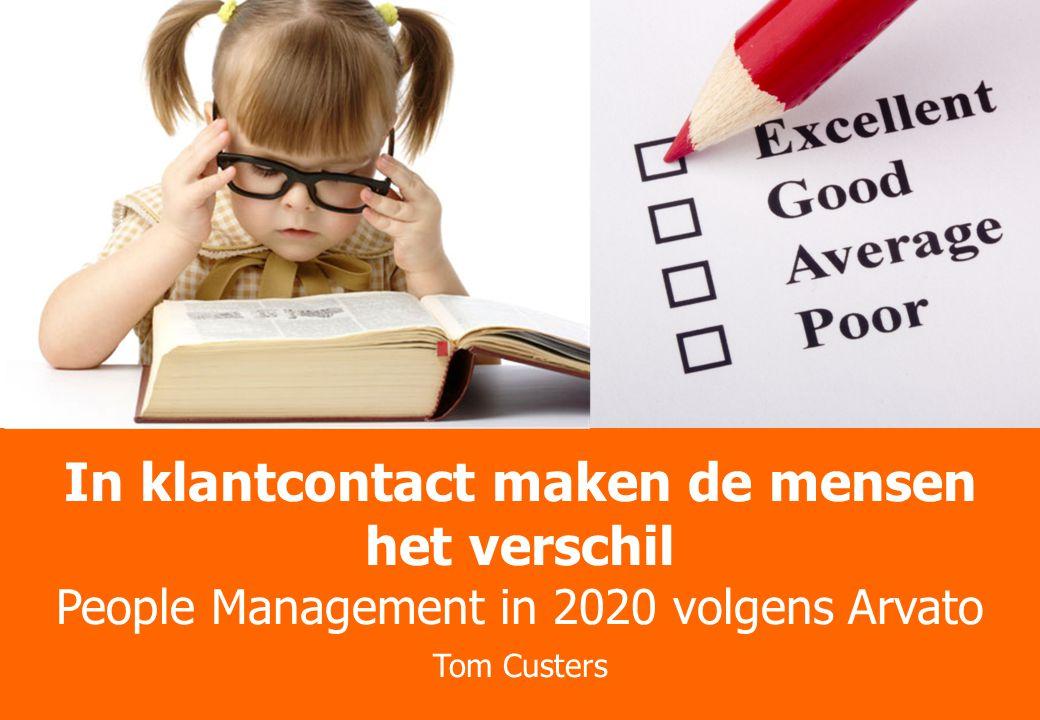 Better Practices Theater Trends, Cases en Onderzoek In klantcontact maken de mensen het verschil People Management in 2020 volgens Arvato Tom Custers
