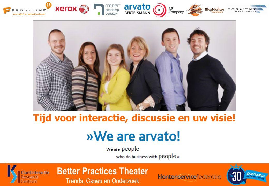 Better Practices Theater Trends, Cases en Onderzoek Tijd voor interactie, discussie en uw visie!