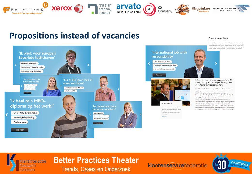 Better Practices Theater Trends, Cases en Onderzoek Self steering