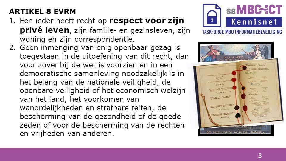 3 Artikel 1 Alle mensen worden vrij en gelijk in waardigheid en rechten geboren. Artikel 3 Een ieder heeft het recht op leven, vrijheid en onschendbaa