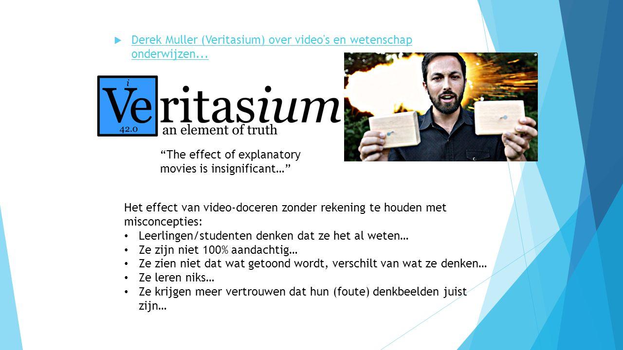 """ Derek Muller (Veritasium) over video's en wetenschap onderwijzen... Derek Muller (Veritasium) over video's en wetenschap onderwijzen... """"The effect"""