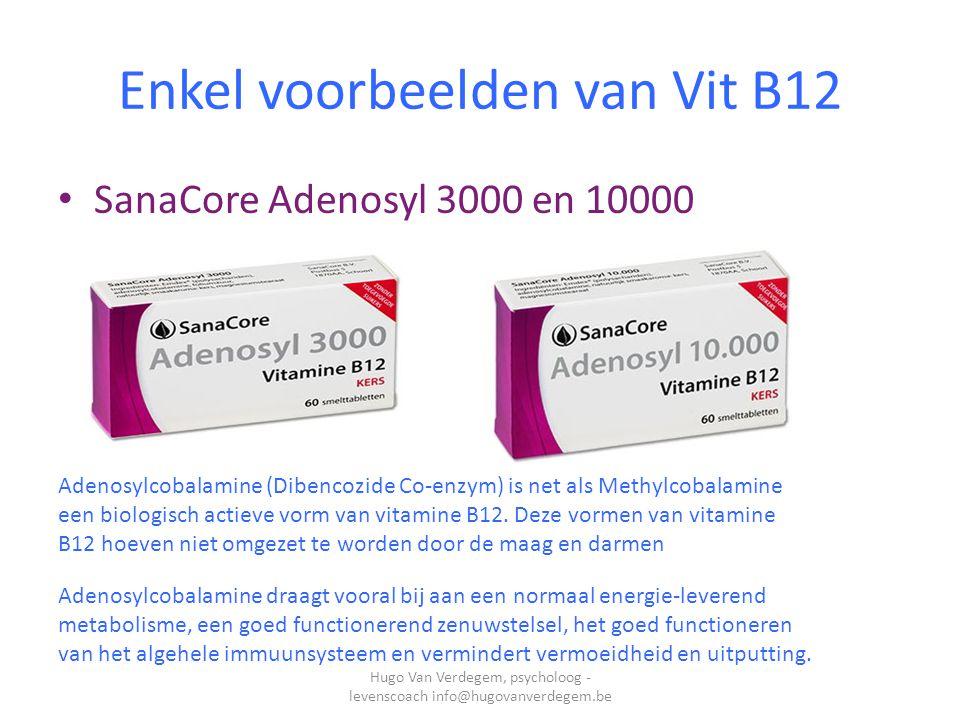 Methylvorm Sanacore 3000 10000 Methylcobalamine is een biologisch actieve vorm van B12.