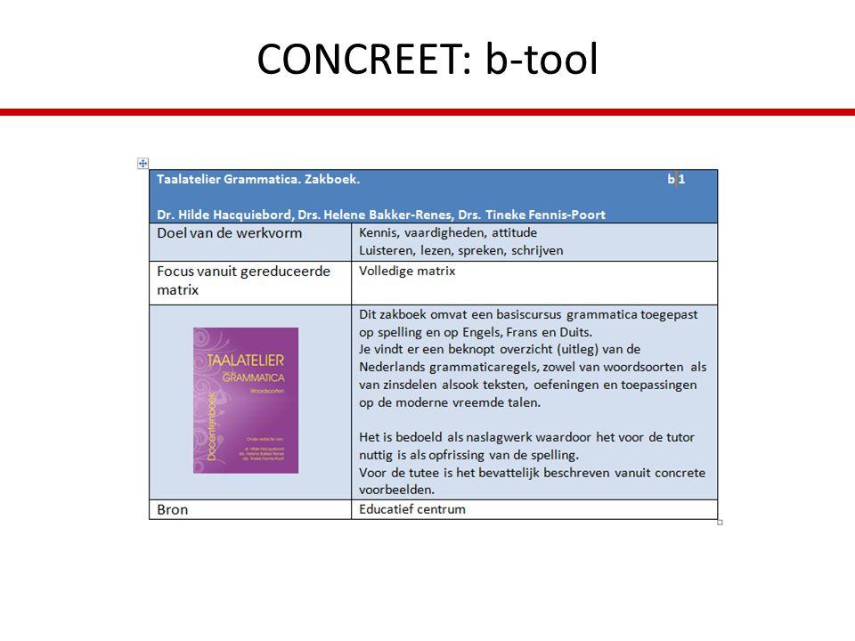 CONCREET: b-tool