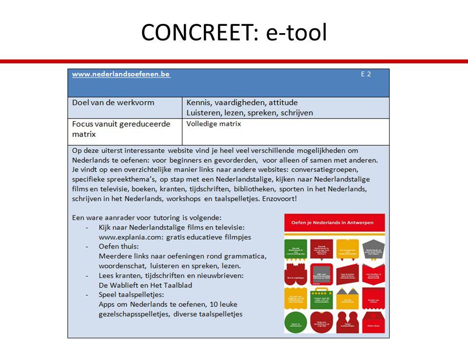 CONCREET: e-tool