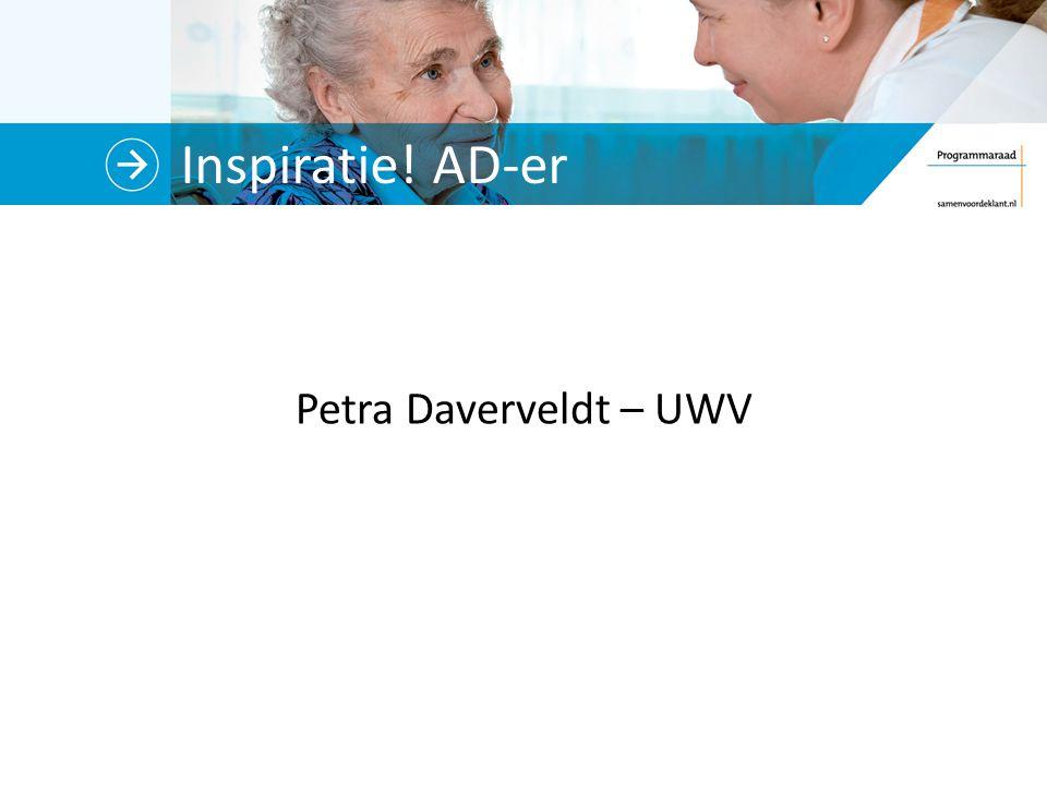 Inspiratie! AD-er Petra Daverveldt – UWV