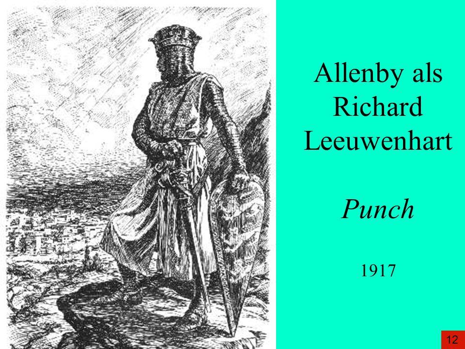 Allenby als Richard Leeuwenhart Punch 1917 12