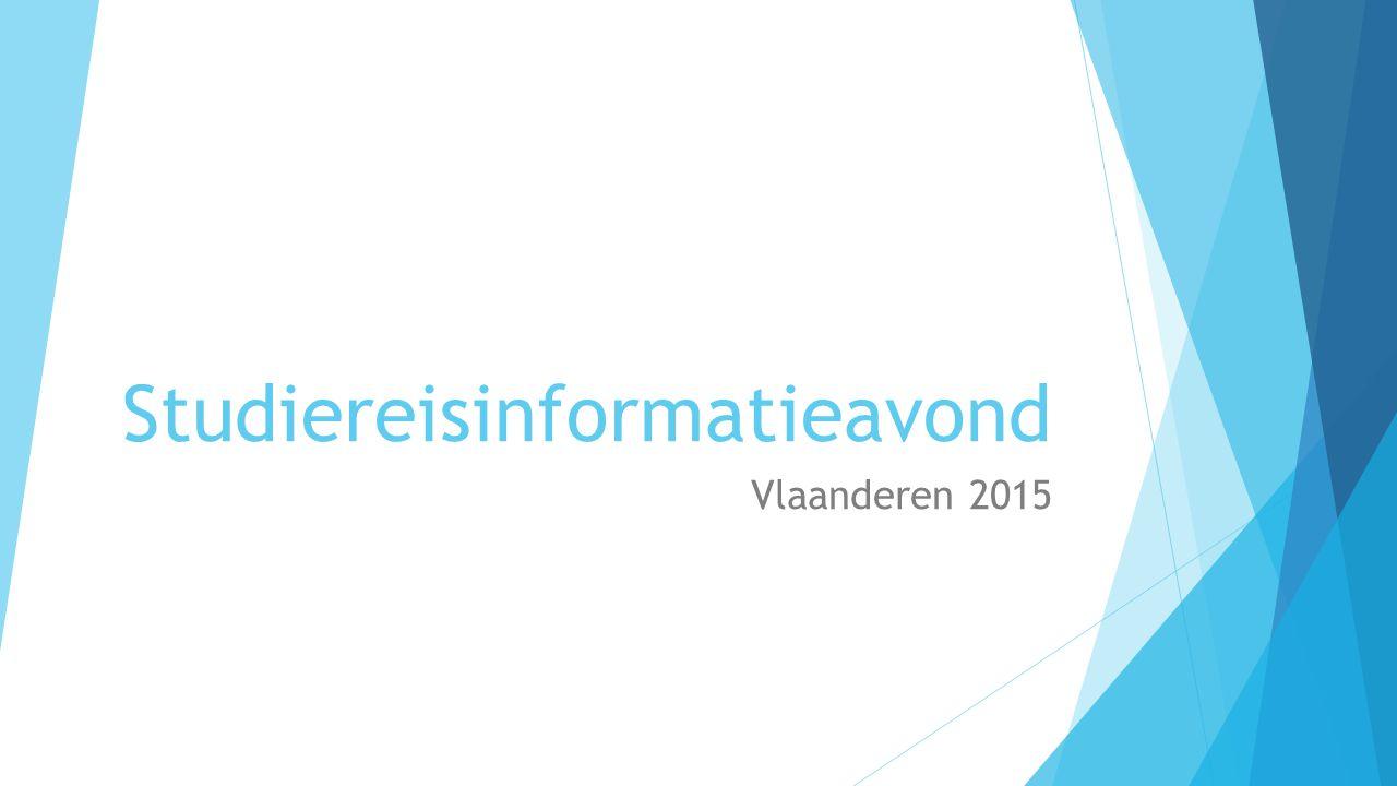 Studiereisinformatieavond Vlaanderen 2015