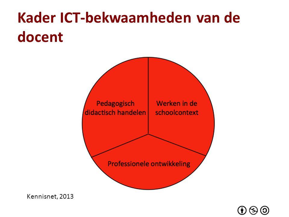 Kader ICT-bekwaamheden van de docent Kennisnet, 2013