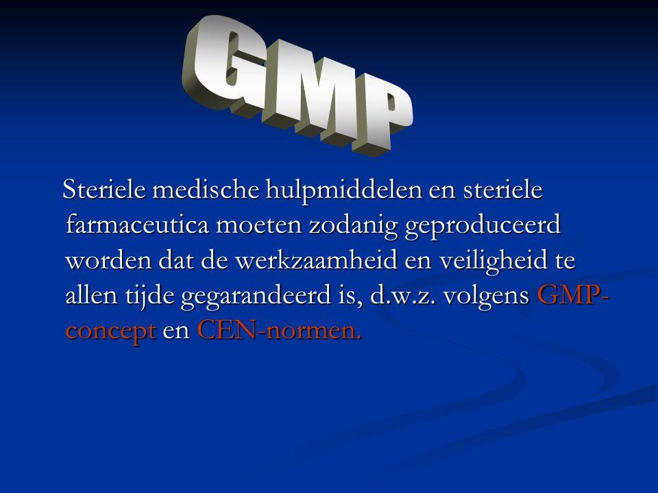 Steriele medische hulpmiddelen en steriele farmaceutica moeten zodanig geproduceerd worden dat de werkzaamheid en veiligheid te allen tijde gegarandee
