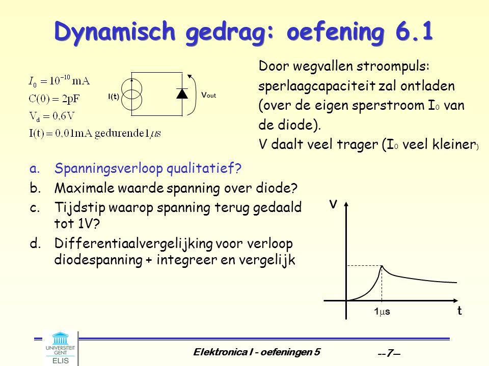 Elektronica I - oefeningen 5 --7-- a.Spanningsverloop qualitatief.
