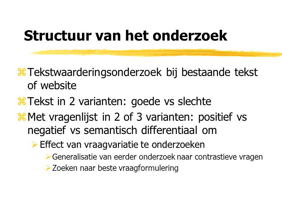 Tekstwaardering: bij welke tekst.zWeb of tekst mag allebei  Bij webtekst ook websurvey.