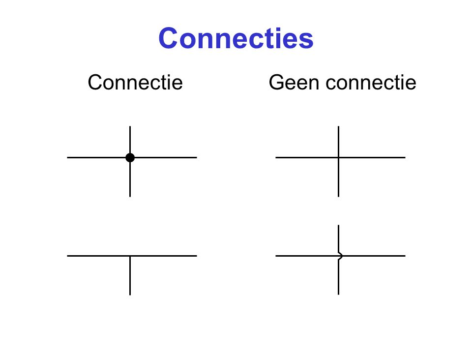 Connecties ConnectieGeen connectie