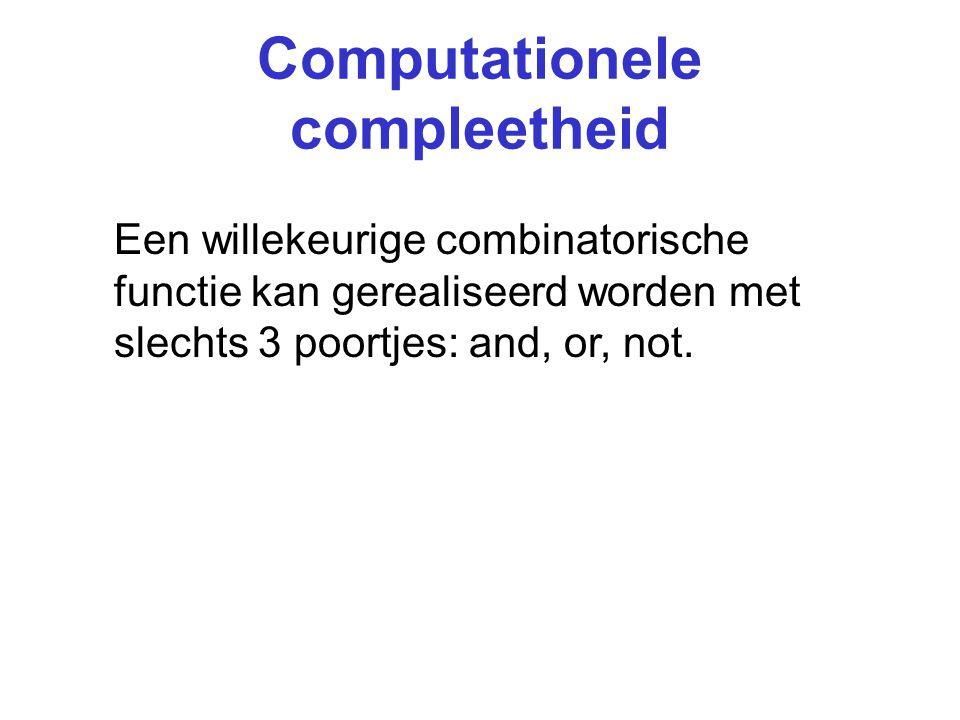 Computationele compleetheid nand (en nor) is ook computationeel compleet!
