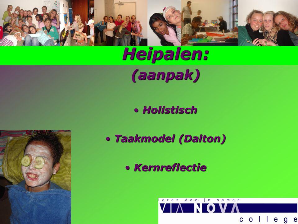 Heipalen:(aanpak) Holistisch Holistisch Taakmodel (Dalton) Taakmodel (Dalton) Kernreflectie Kernreflectie