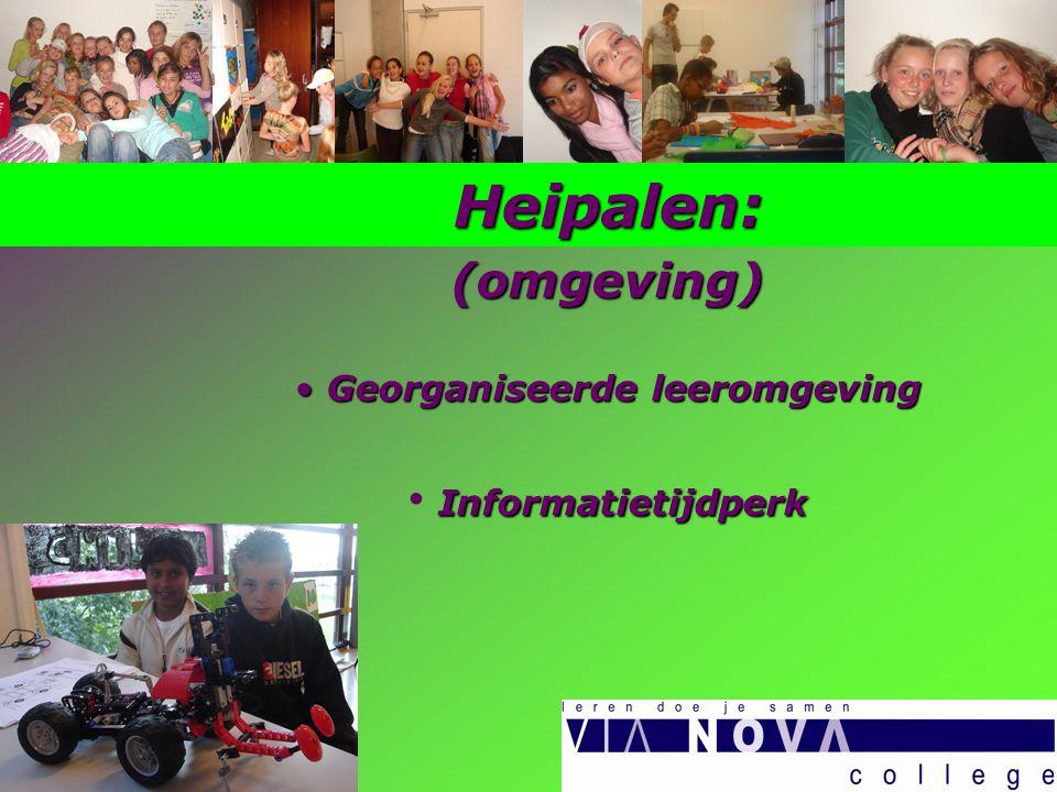 Heipalen:(omgeving) Georganiseerde leeromgeving Georganiseerde leeromgeving Informatietijdperk