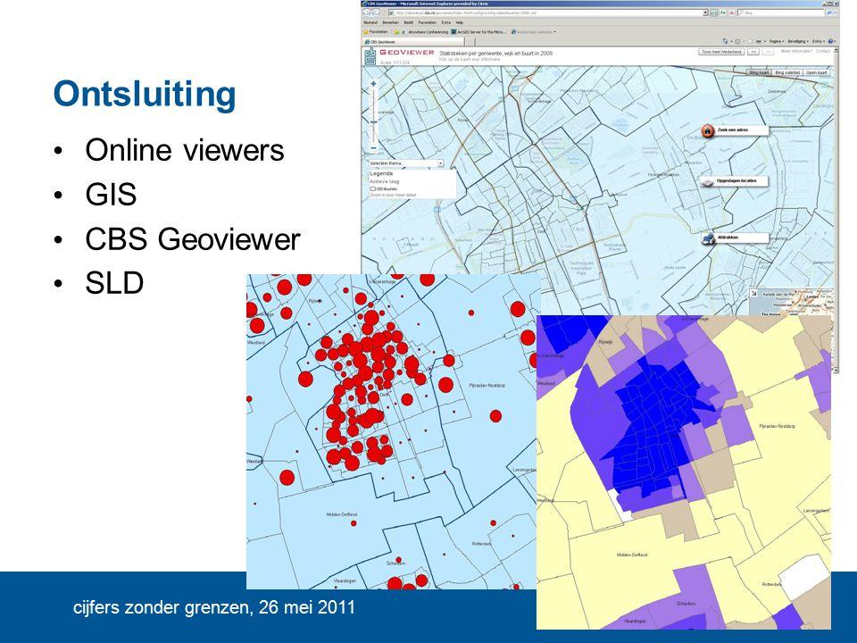 cijfers zonder grenzen, 26 mei 2011 Ontsluiting Online viewers GIS CBS Geoviewer SLD