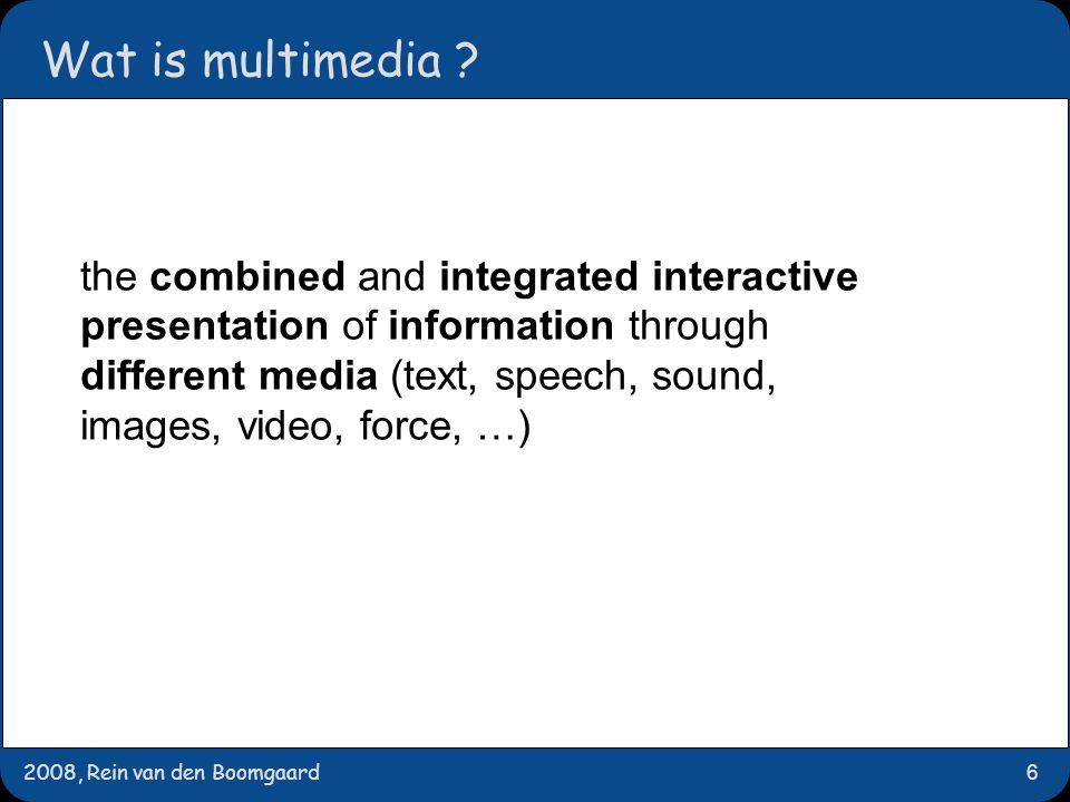 2008, Rein van den Boomgaard17 communiceren met mensen wat zijn de verschillende 'informatie formats' voor gebruik in communicatie met een mens?