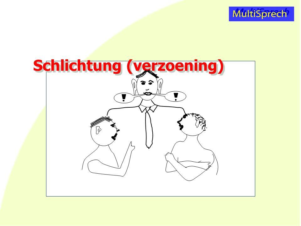 Schlichtung (verzoening)