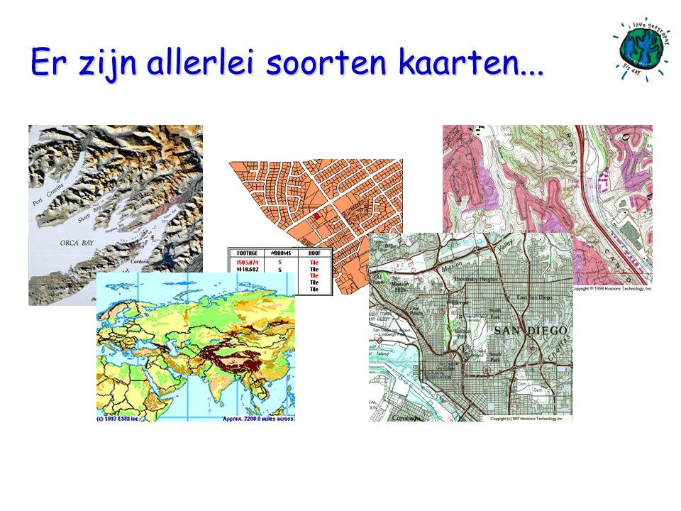 Kaartlagen bevatten objecten Punten Lijnen Vlakken Tekst