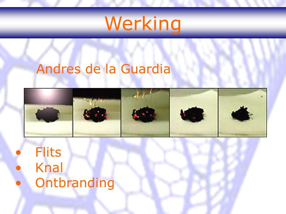 Andres de la Guardia Werking Flits Knal Ontbranding