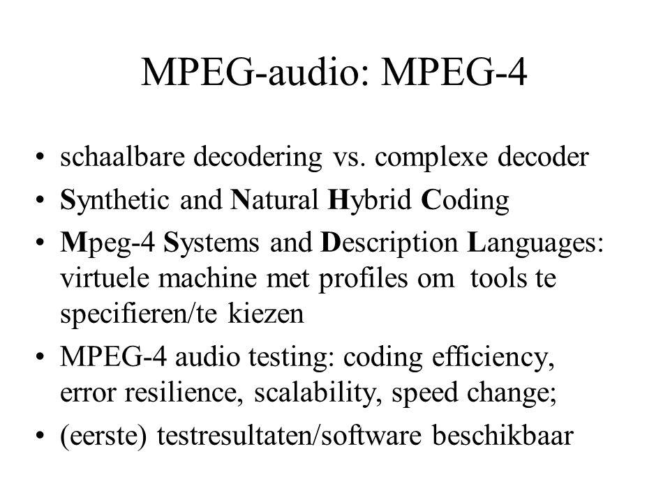 MPEG-audio: MPEG-4 schaalbare decodering vs.