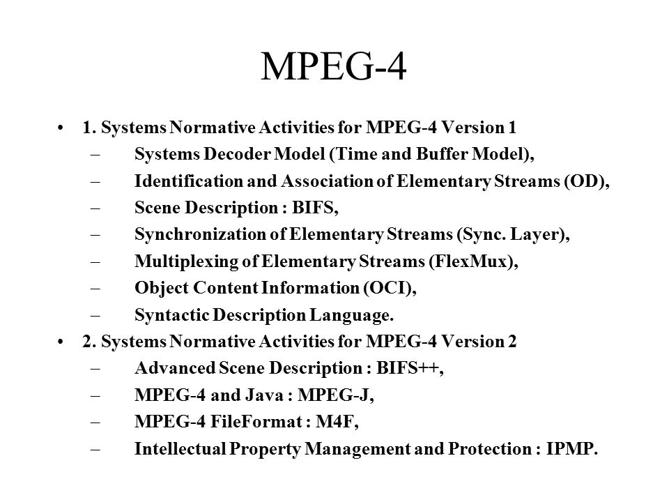 MPEG-4 1.