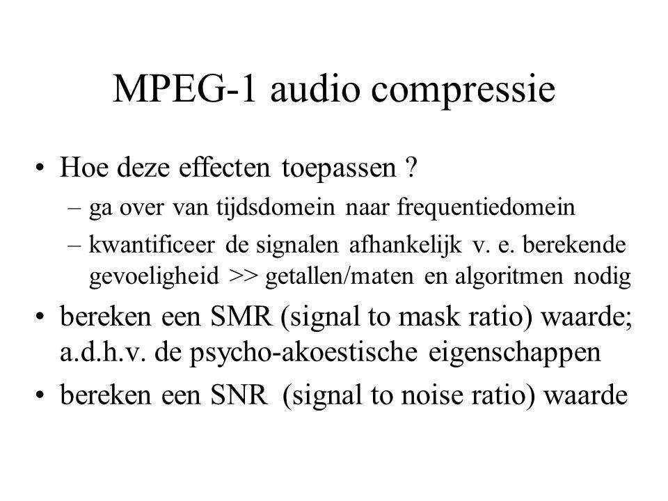 MPEG-1 audio compressie Hoe deze effecten toepassen .