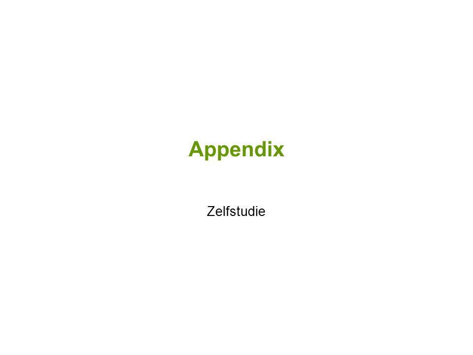 Appendix Zelfstudie