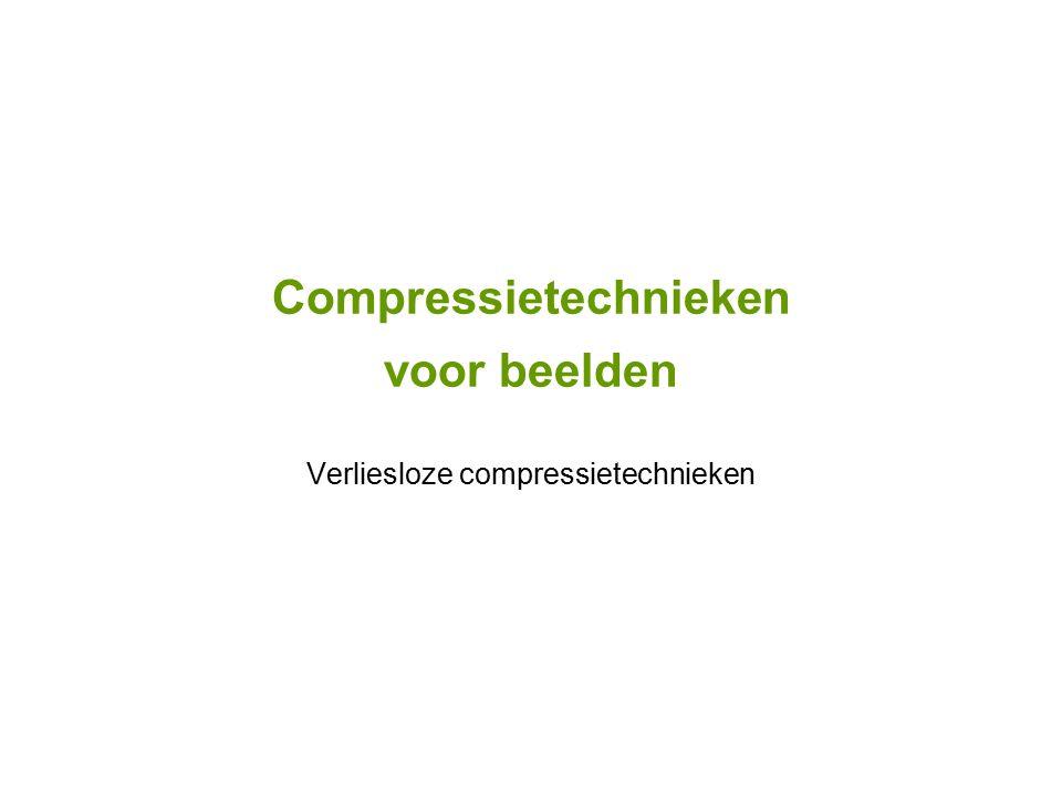 Compressietechnieken voor beelden Verliesloze compressietechnieken