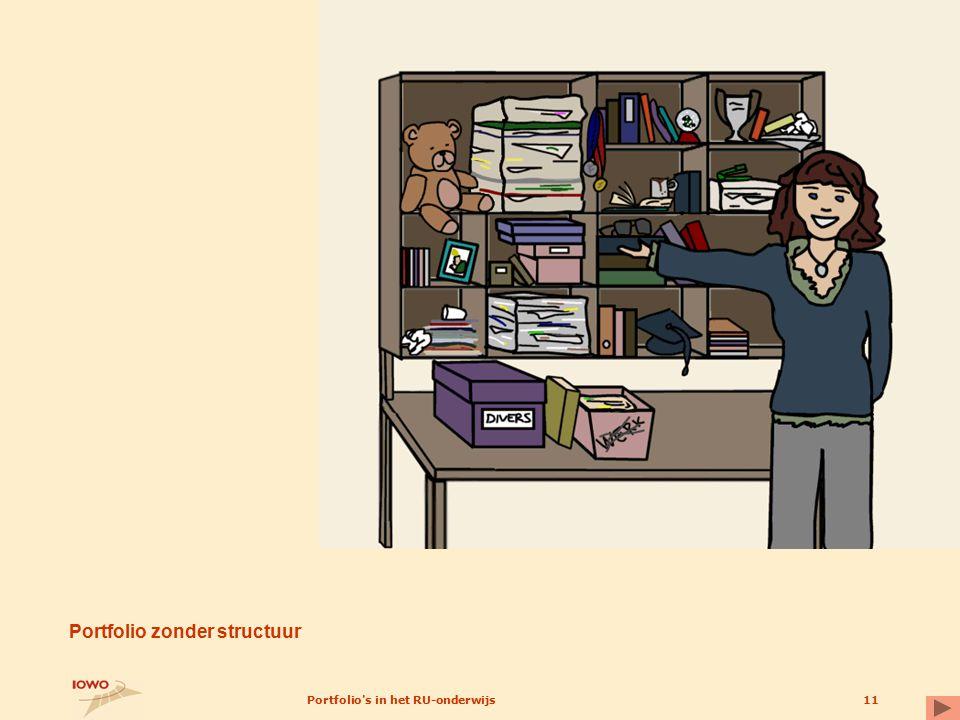 Portfolio s in het RU-onderwijs11 Portfolio zonder structuur