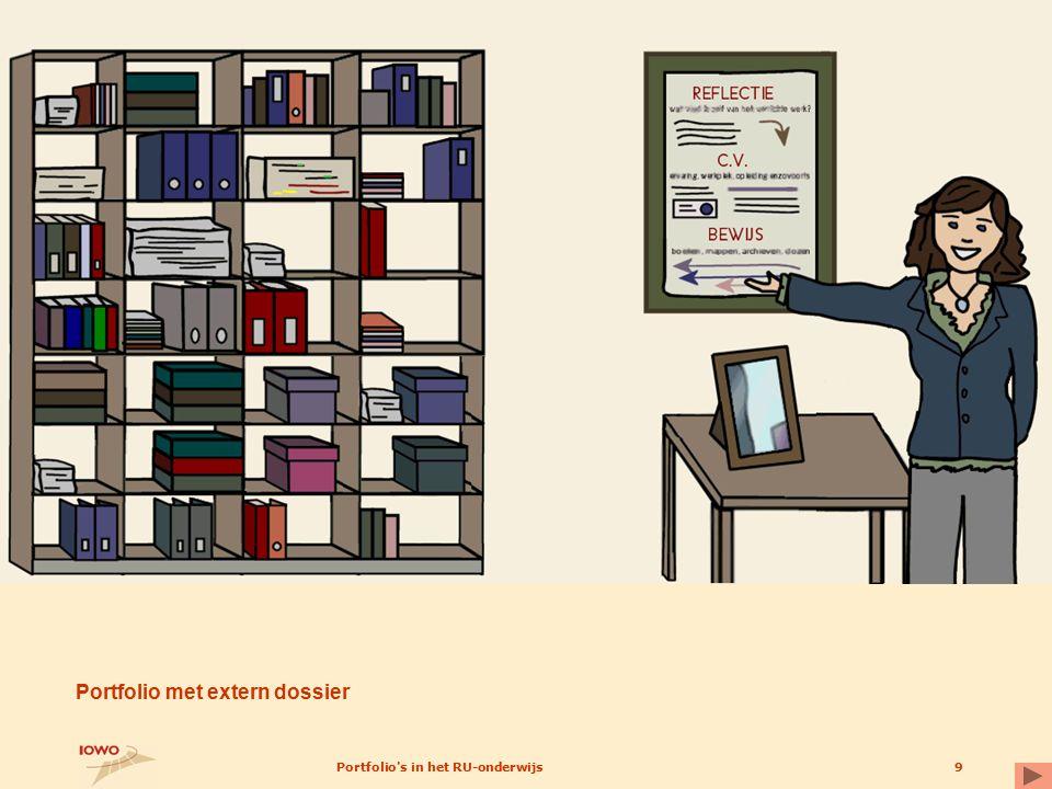 Portfolio's in het RU-onderwijs9 Portfolio met extern dossier