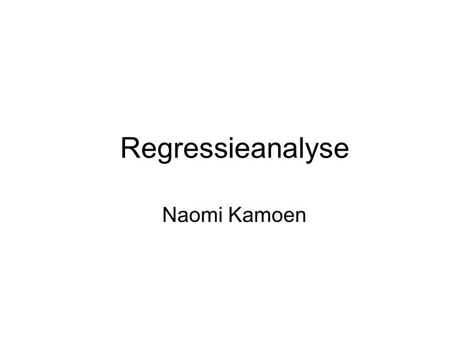 Regressieanalyse Naomi Kamoen