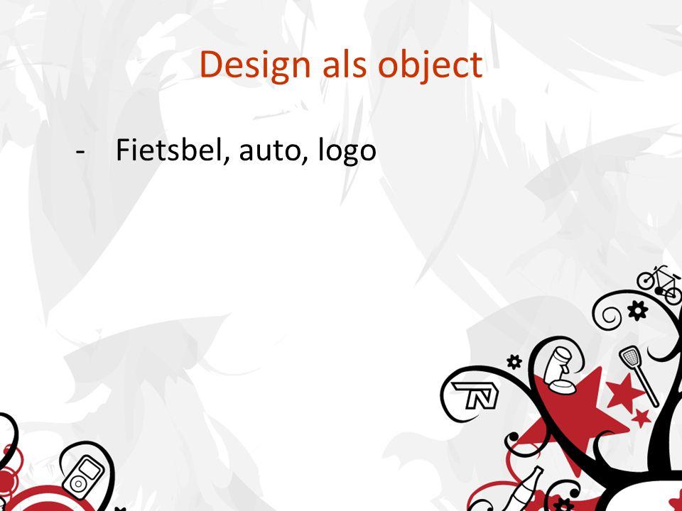 Design als object -Fietsbel, auto, logo