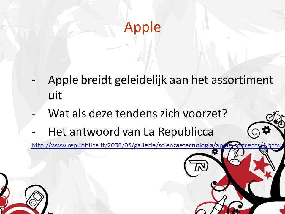 Apple -Apple breidt geleidelijk aan het assortiment uit -Wat als deze tendens zich voorzet.