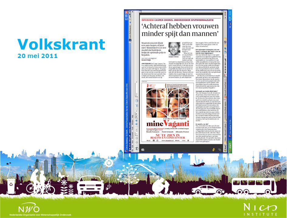 Volkskrant 20 mei 2011