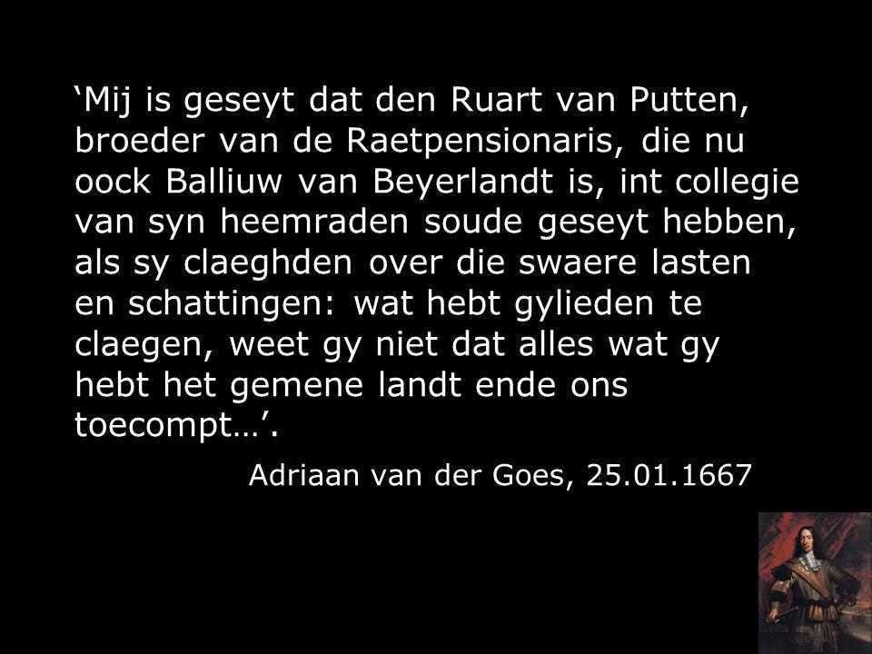 Cornelis de Witt en het platteland I.Biografie II.Ruwaard van Putten III.Baljuw van Beijerland IV.Plattelanders over Cornelis de Witt V.Val en nasleep