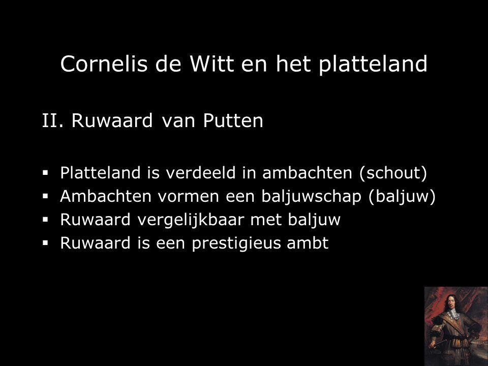 Cornelis de Witt en het platteland II.