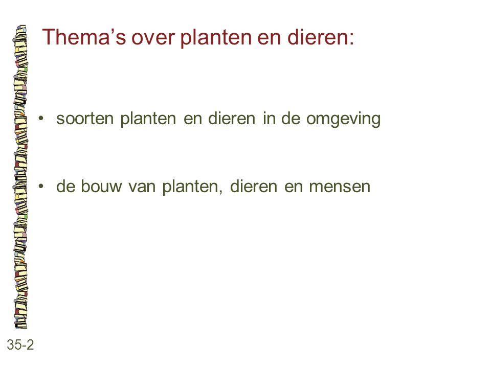 Thema's over planten en dieren: 35-2 soorten planten en dieren in de omgeving de bouw van planten, dieren en mensen