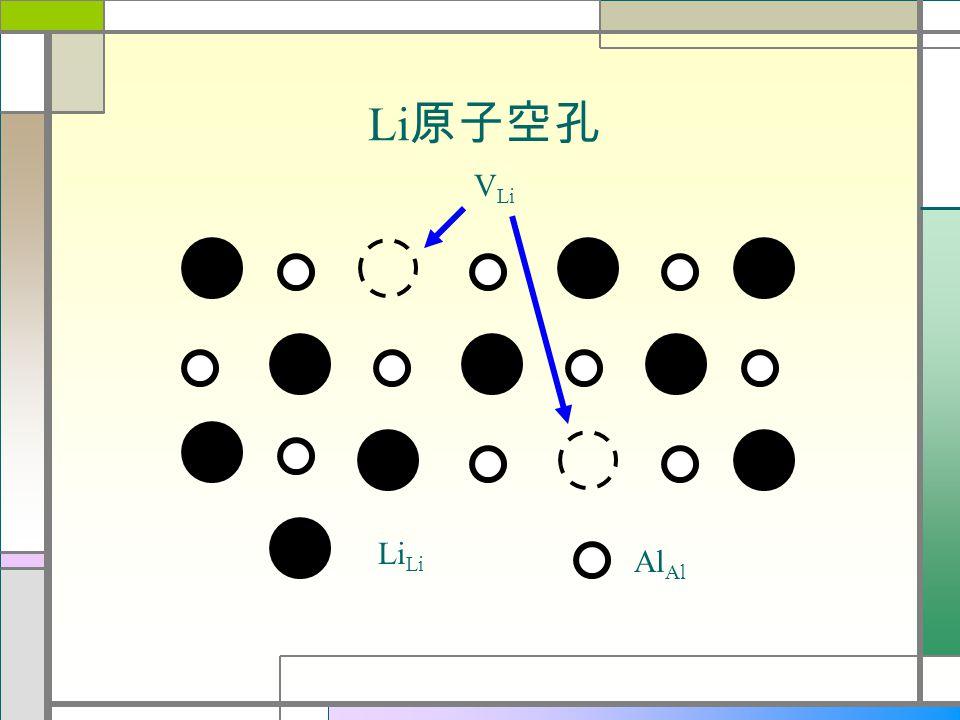 Li Al Li 原子空孔 V Li