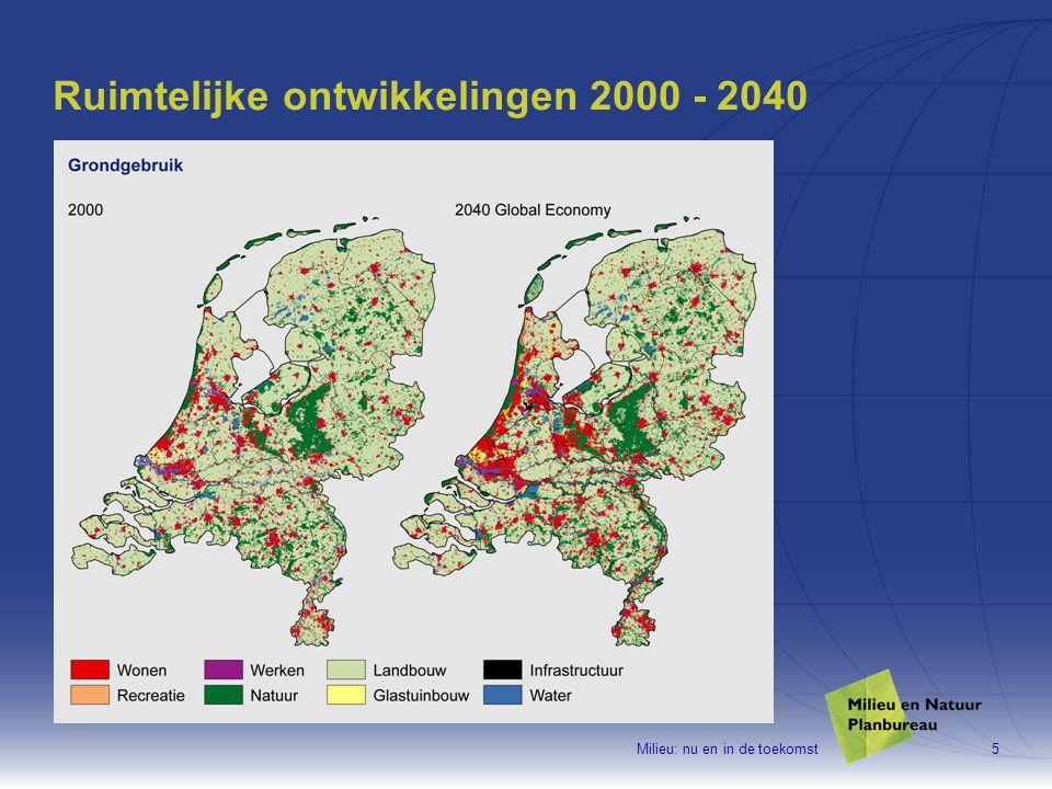 Milieu: nu en in de toekomst26 In 2020 nog 6000 woningen met hoge geluidbelasting Maatregelen Toekomstagenda Milieu onvoldoende uitgewerkt om te kunnen beoordelen