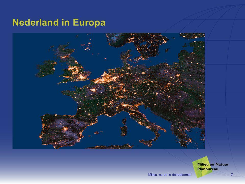 Milieu: nu en in de toekomst28 Huidige milieukwaliteit is onvoldoende om gewenste natuur te realiseren en te behouden EU-doel voor ammoniak (2010) beschermt 20-30% van natuur