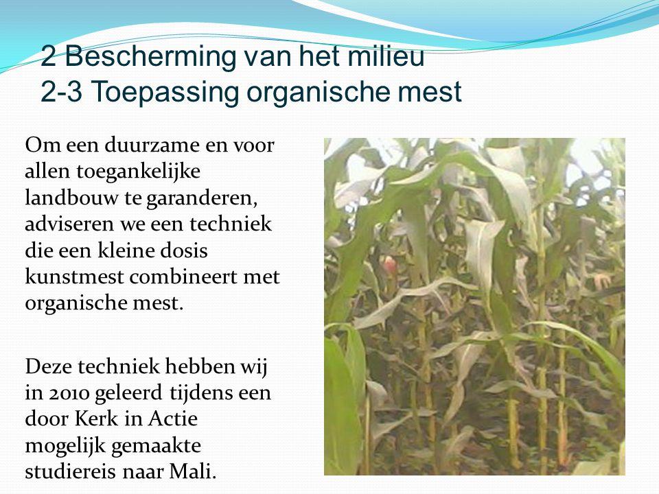Om een duurzame en voor allen toegankelijke landbouw te garanderen, adviseren we een techniek die een kleine dosis kunstmest combineert met organische mest.