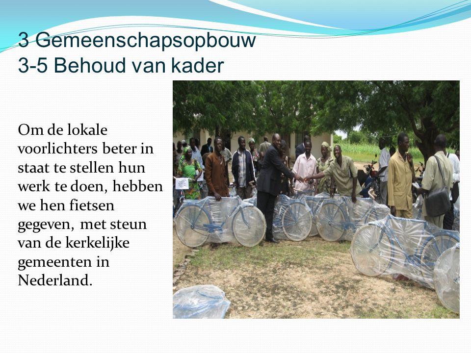 Om de lokale voorlichters beter in staat te stellen hun werk te doen, hebben we hen fietsen gegeven, met steun van de kerkelijke gemeenten in Nederlan