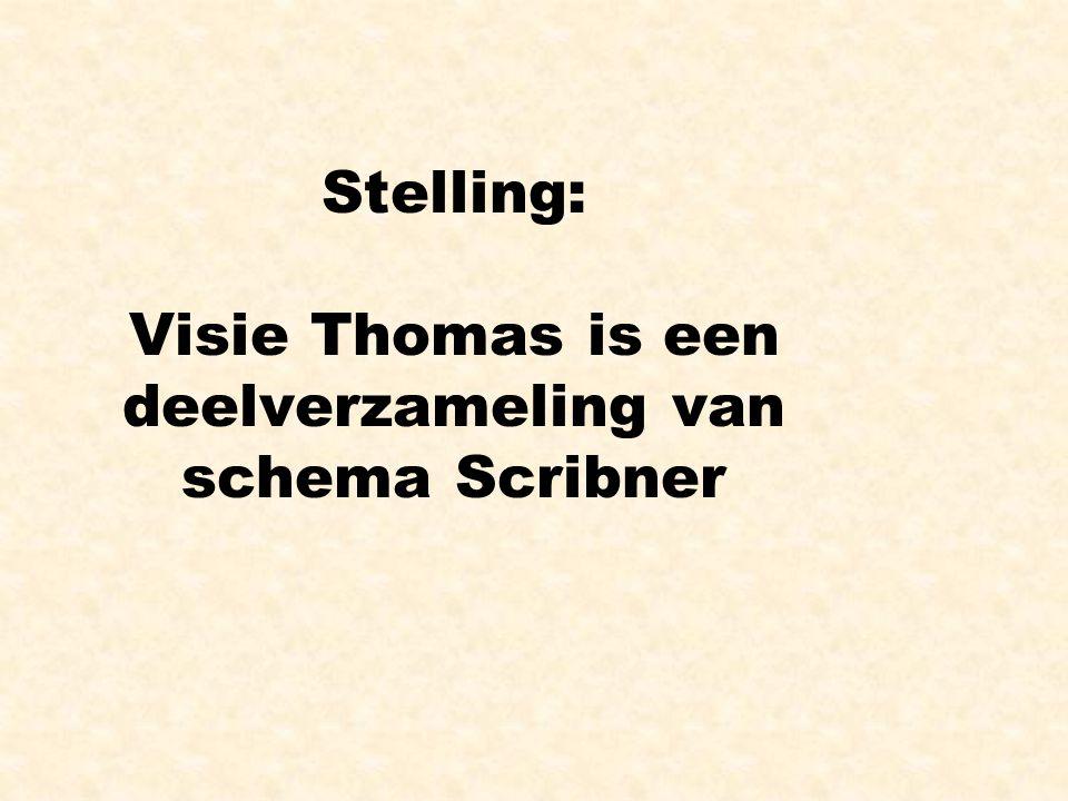 Stelling: Visie Thomas is een deelverzameling van schema Scribner