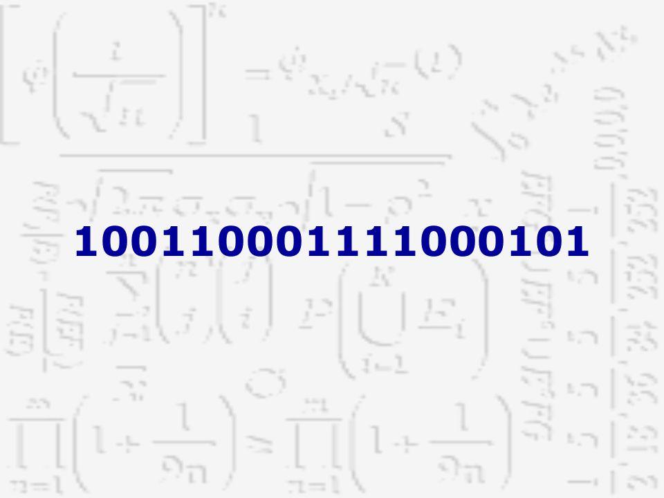De exponenten zijn opvolgende gehele getallen die gemakshalve samen met het grondtal, boven de cijfers worden geplaatst.