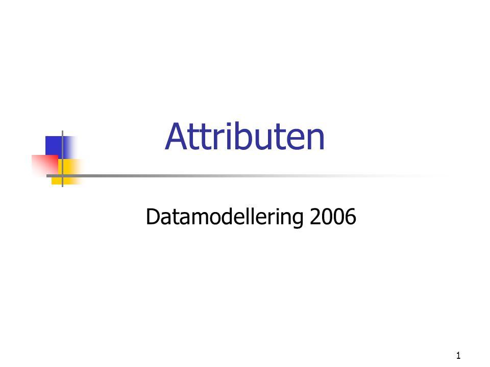 1 Attributen Datamodellering 2006