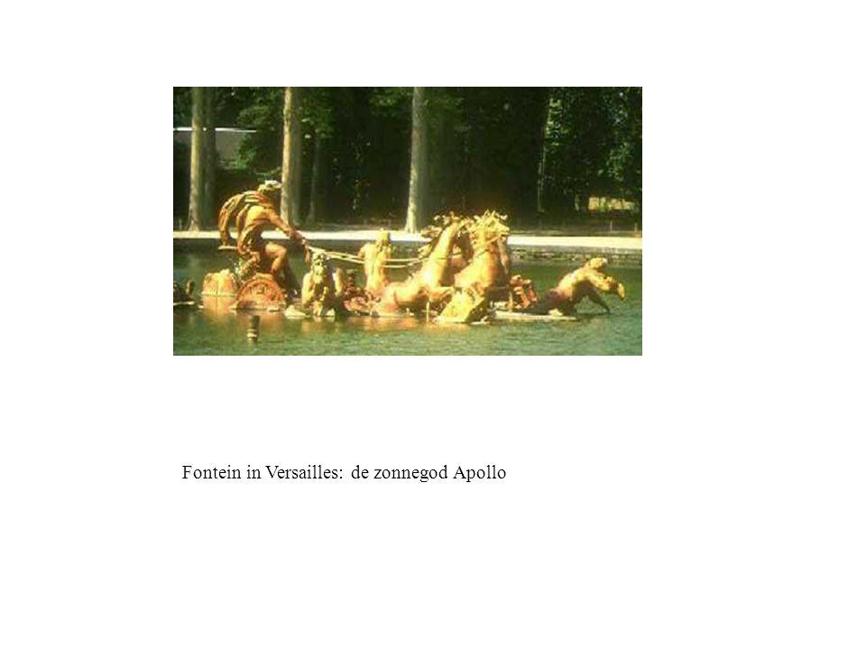 Fontein in Versailles: de zonnegod Apollo
