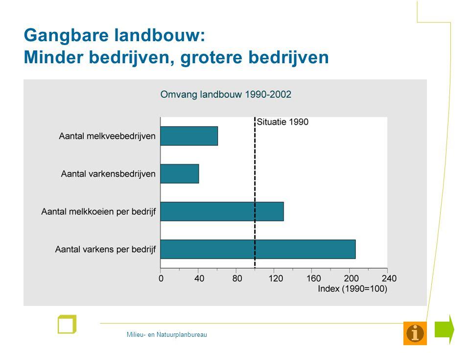 Milieu- en Natuurplanbureau r Gangbare landbouw: Minder bedrijven, grotere bedrijven
