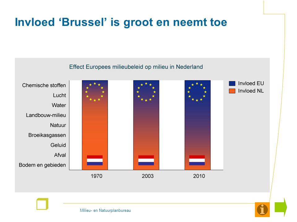 Milieu- en Natuurplanbureau r Invloed 'Brussel' is groot en neemt toe