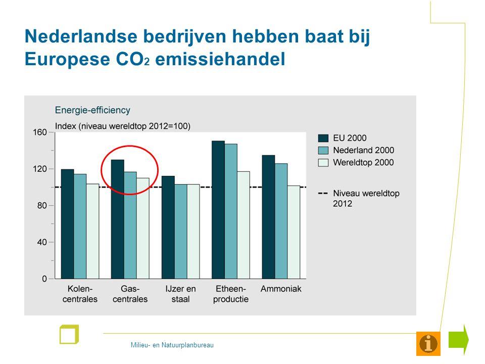 Milieu- en Natuurplanbureau r Nederlandse bedrijven hebben baat bij Europese CO 2 emissiehandel